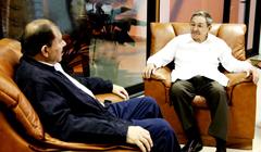 Encuentro del presidente cubano Raul Castro con Daniel Ortega