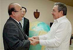 Presidente de Cuba sostiene encuentro con canciller norcoreano