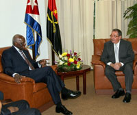 Raul Castro Meets Angola President