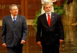 Raul Castro and Lula da Silva Held Official Talks in Havana