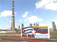 The Cuban Oil plant has refined its first 65,000 barrels