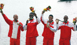Gold medal to Cuba in last day of Rowing competitions