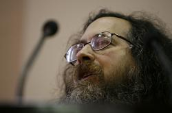 Richard Stallman in the conference in Havana