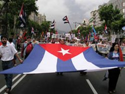 In Mexico Solidarity with the Cuban Revolution.