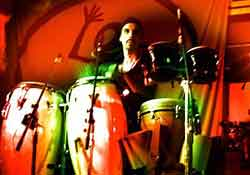 tambores rojo