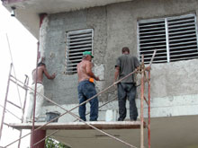 Tiles and beams for housing in the province of Ciego de Avila Cuba