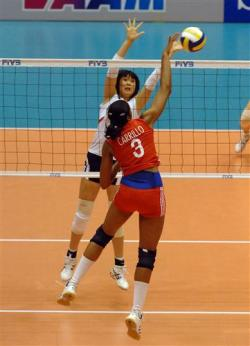 Cuba defeated Japan in Women's Volleyball World Cup