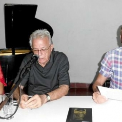Writers Pedro Jesús and Antón Arrufat presented their new books in Sancti Spiritus