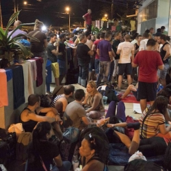 Cuban immigrants left stranded between Costa Rica and Nicaragua
