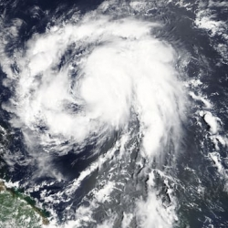Hurricane Maria strengthens to category three storm