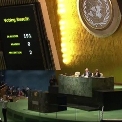 The US abstains at the UN in voting against the embargo on Cuba