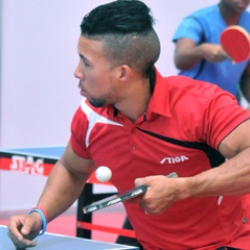 Cuba has the table tennis team for Veracruz