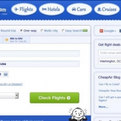 CheapAir offers flights from the US to Cuba through its website